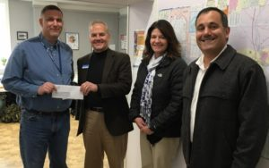 camden national bank presents donation