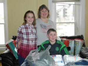 volunteers at Christmas time